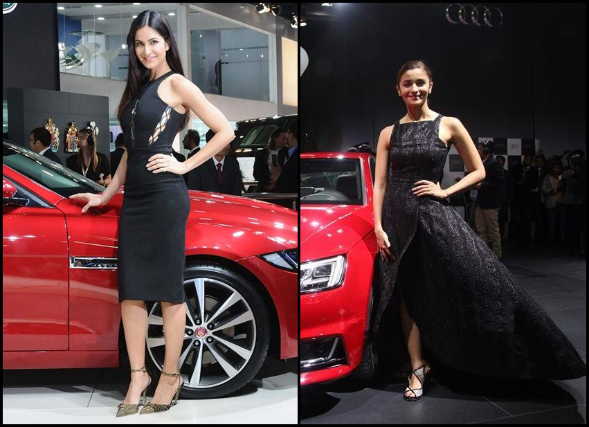 Black Beauties Katrina Kaif and Alia Bhatt turn up the heat at the Auto Expo 2016