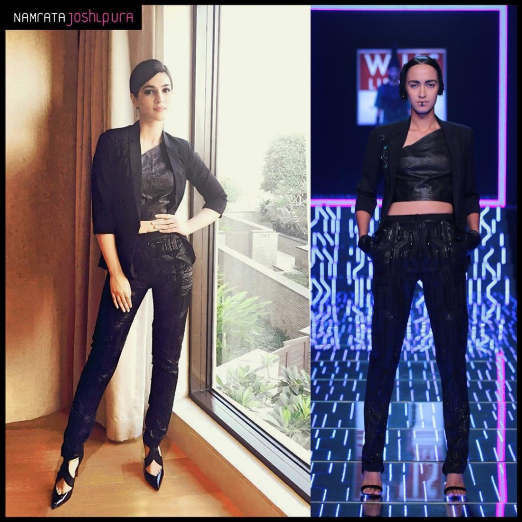 Kriti Sanon makes it work in a Sizzling Pant Suit for Zee Cine Awards Press Meet- Kriti 1