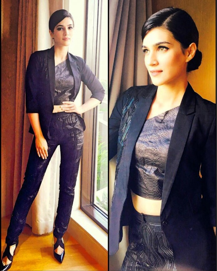 Kriti Sanon makes it work in a Sizzling Pant Suit for Zee Cine Awards Press Meet- Kriti 2