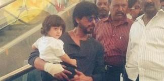 Shah Rukh Khan arrives in Gujarat for Raees, accompanied by son AbRam