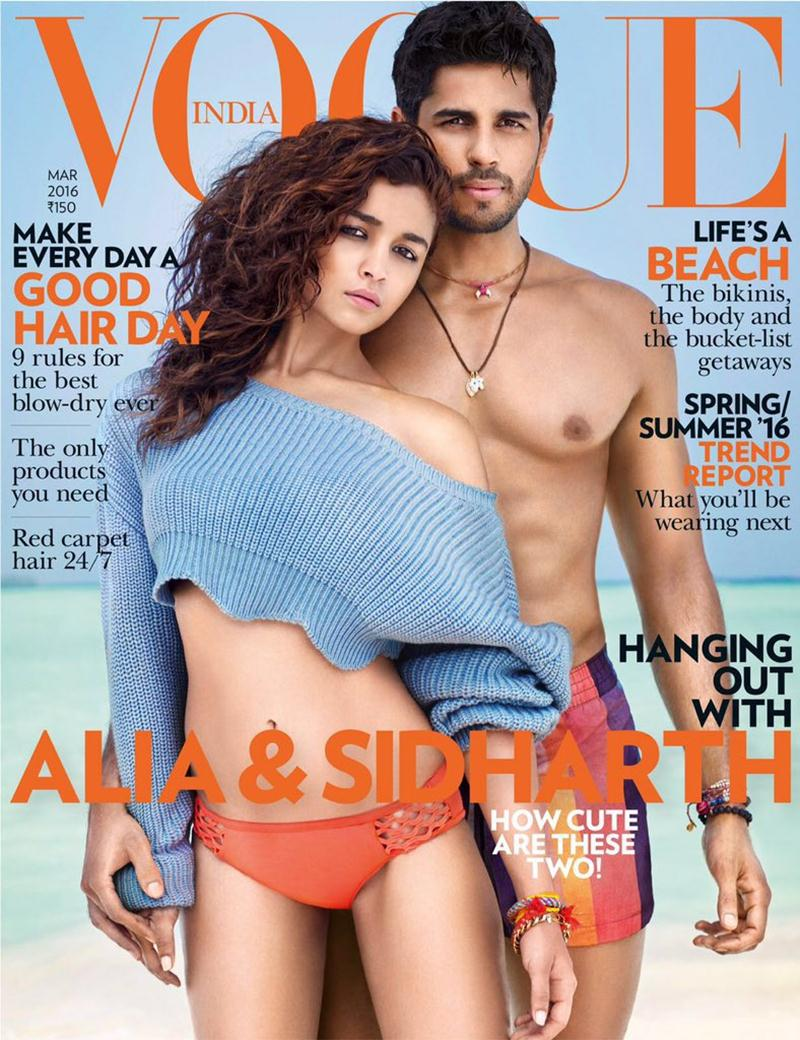 Sidharth Malhotra and Alia Bhatt on Vogue Cover look smoking hot together!- Sid Alia 1