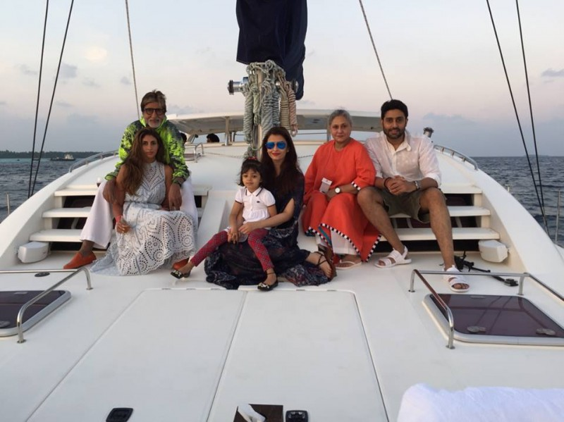 Exclusive Pics: Bachchan Family In Maldives For Abhishek's 40th Birthday!