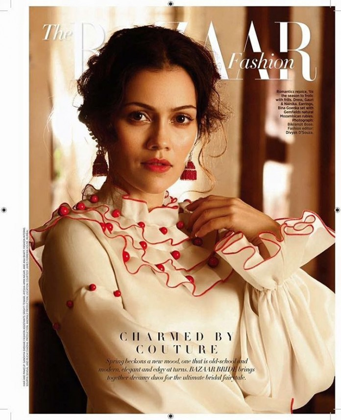 Waluscha De Sousa stuns us with her beauty in Harper's Bazaar Cover Feb issue