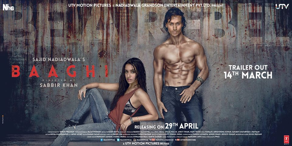 Baaghi First Look Poster: Tiger Shroff and Shraddha Kapoor Look Hot and Intense