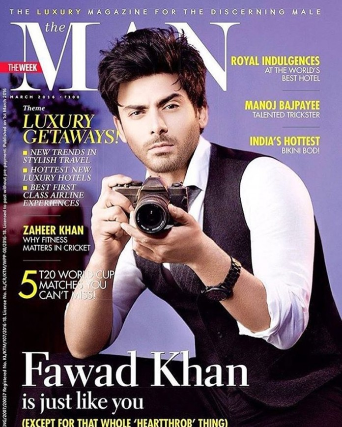 Fawad Khan on the cover of The Man makes our heart beat faster and faster!- Fawad Khan