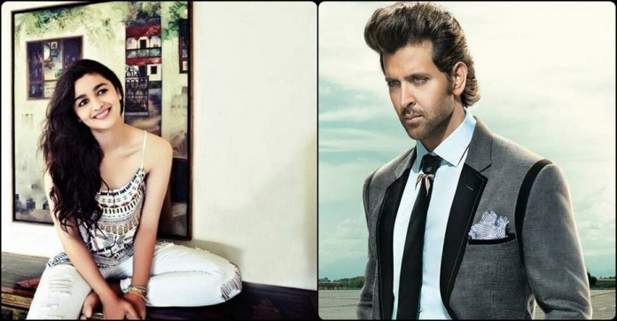 Hot or Not : Hrithik Roshan and Alia Bhatt romancing in Aashiqui 3?- hrithik alia
