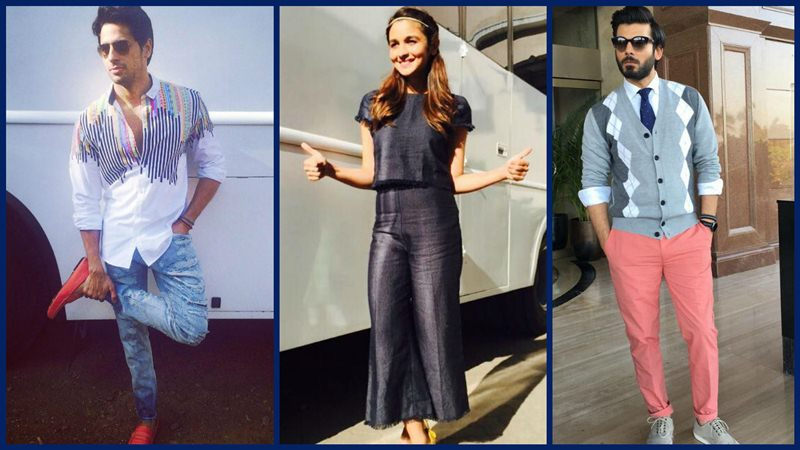 Fashion Diaries: Alia Bhatt, Sidharth Malhotra and Fawad Khan during Kapoor & Sons promotions