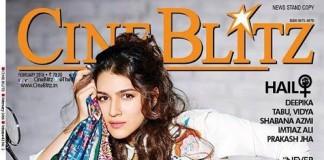 'Cool Rider' Kriti Sanon is the cover girl of CineBlitz Magazine March issue- kriti