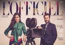 Katrina Kaif and Abhishek Kapoor on Fitooristic gracious L'Officiel Magazine's March Cover