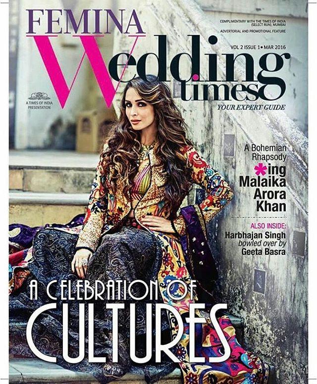 Malaika Arora Khan in Wedding Times March Edition
