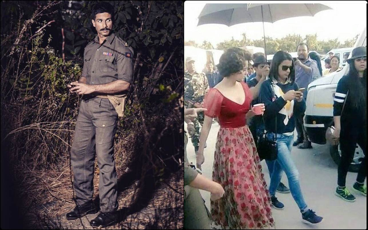 Shahid Kapoor and Kangana Ranaut shoot for 'Ek Dooni Do' at Indo-China Border