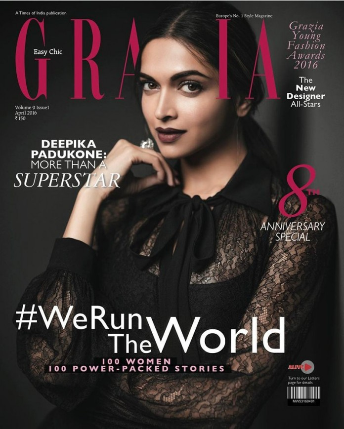 Deepika Padukone mesmerizes us on Grazia India's April Issue Cover