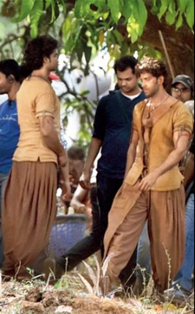 Hrithik On Sets of Mohenjo Daro