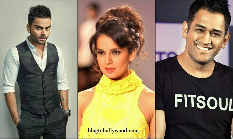 Kangana Ranaut To Work With Virat Kohli and M.S. Dhoni