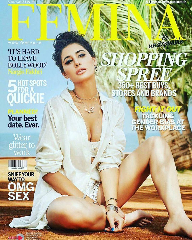 Nargis Fakhri scorches up the temperature in Femina India cover- Nargis femina Cover