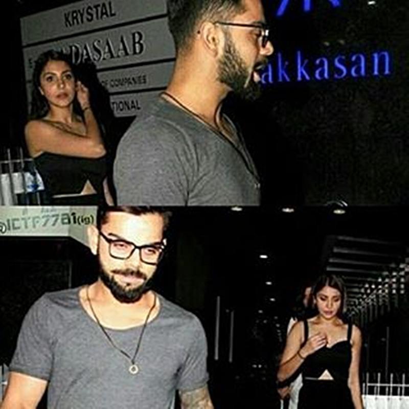 Spotted: Anushka Sharma and Virat Kohli having a late dinner together- Virushka 1