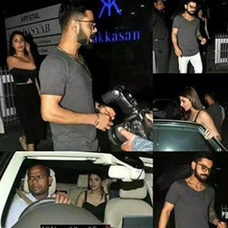 Spotted: Anushka Sharma and Virat Kohli having a late dinner together- Virushka 2