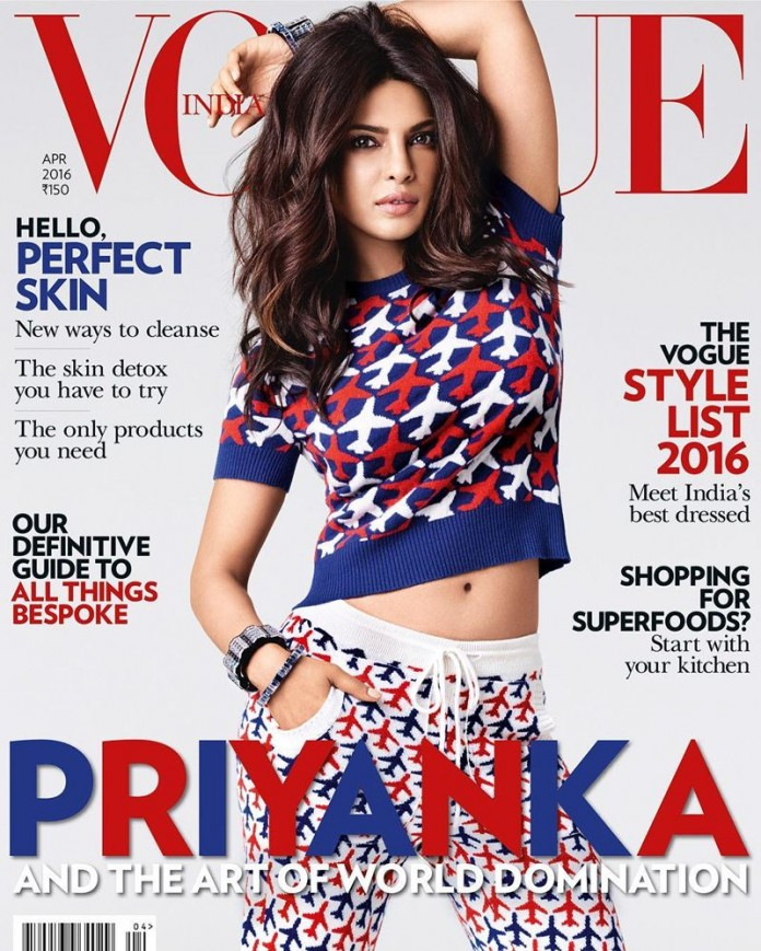 Priyanka Chopra looks so in her skin on Vogue India Cover