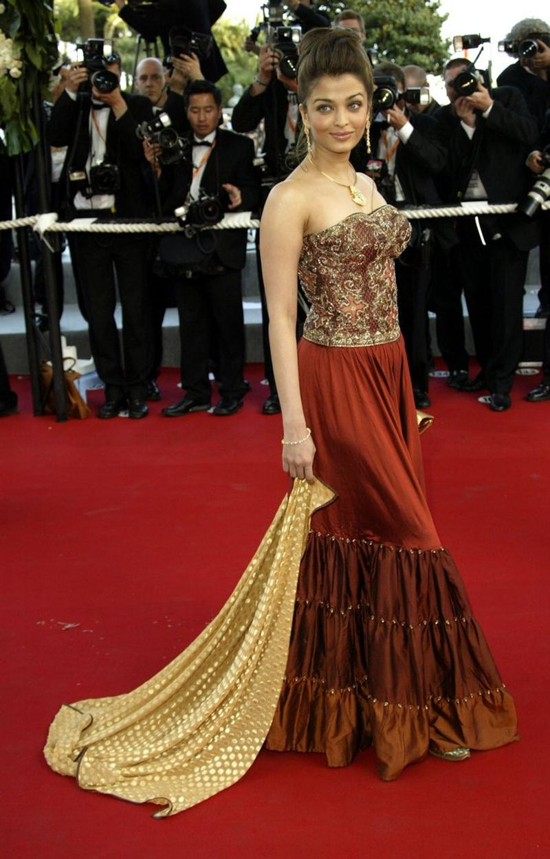 Aishwarya Rai Bachchan and Sonam Kapoor's various looks at Cannes over the years- Aish 2003 2