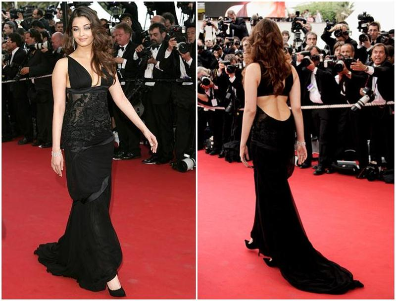 Aishwarya Rai Bachchan and Sonam Kapoor's various looks at Cannes over the years- Aish 2005 2