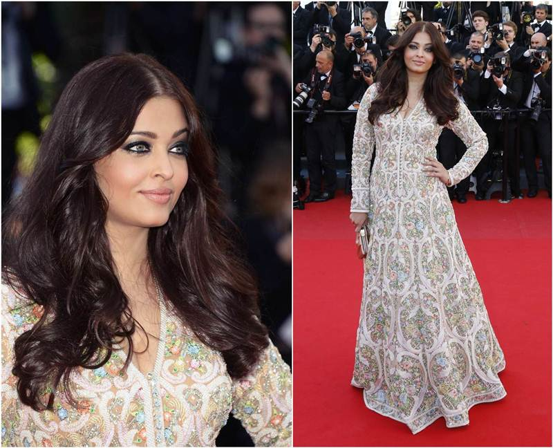 Aishwarya Rai Bachchan and Sonam Kapoor's various looks at Cannes over the years- Aish 2013 3