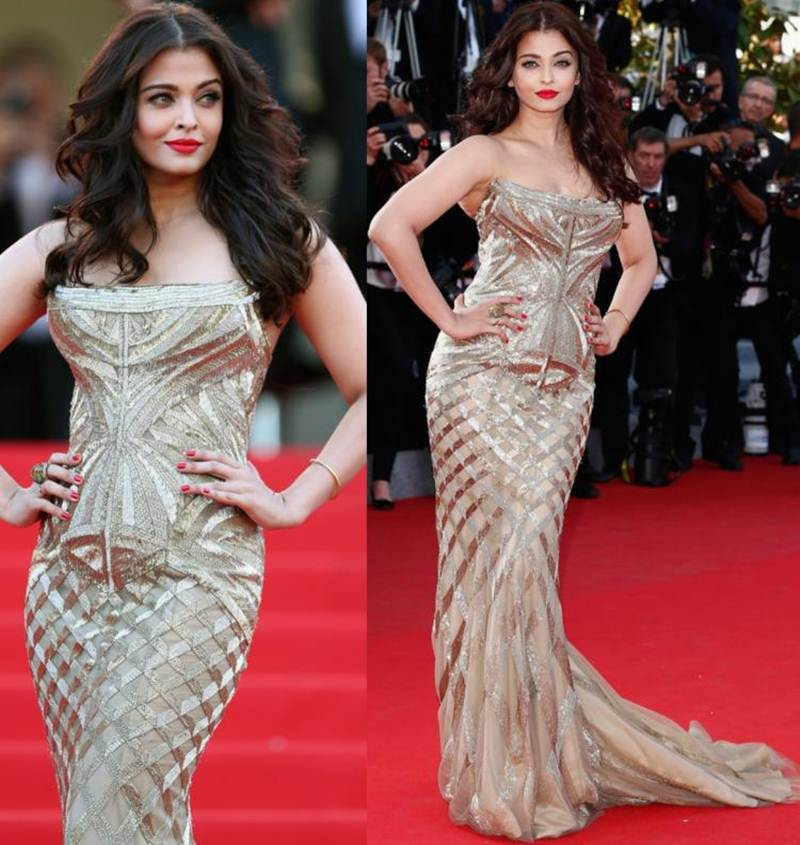 Aishwarya Rai Bachchan and Sonam Kapoor's various looks at Cannes over the years- Aish 2014 1