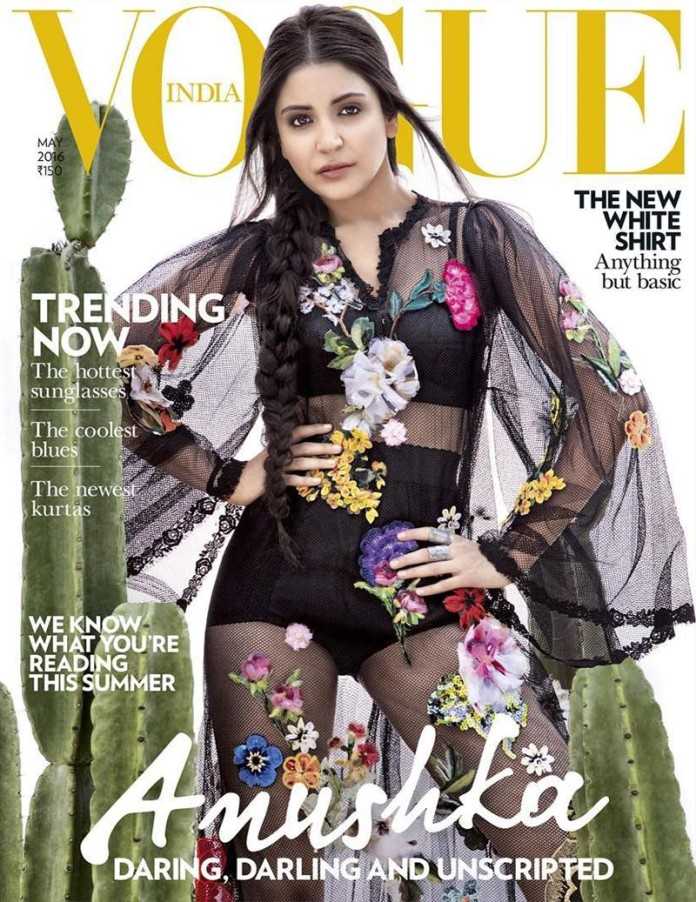 Daring, Darling and Unscripted Anushka Sharma on the cover of Vogue