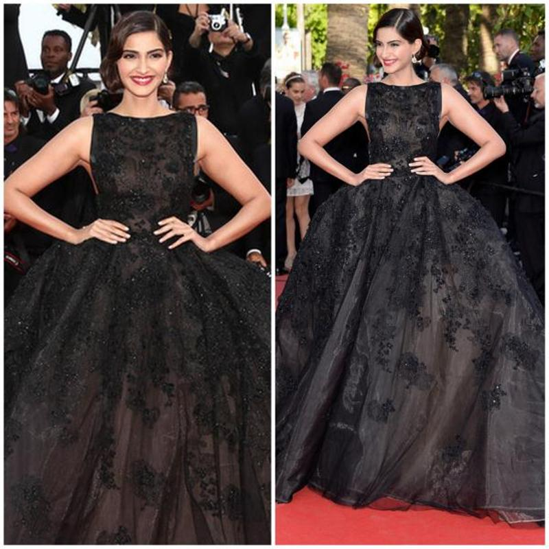 Aishwarya Rai Bachchan and Sonam Kapoor's various looks at Cannes over the years- Sonam 2014 1