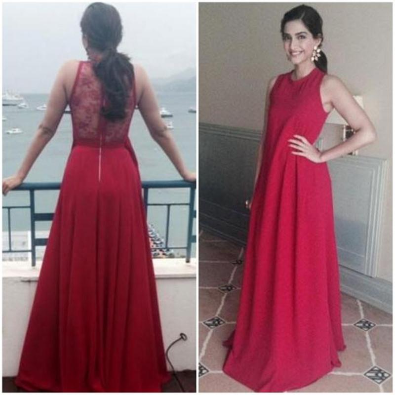 Aishwarya Rai Bachchan and Sonam Kapoor's various looks at Cannes over the years- Sonam 2014 4