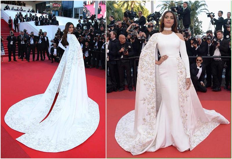 Aishwarya Rai Bachchan and Sonam Kapoor's various looks at Cannes over the years- Sonam 2016 2