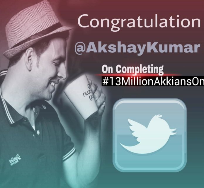 #13MillionAkkiansOnTwitter: Akshay Kumar Reaches 13 Million Followers on Twitter
