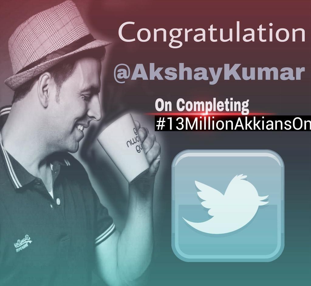 #13MillionAkkiansOnTwitter: Akshay Kumar Reaches 13 Million Followers on Twitter