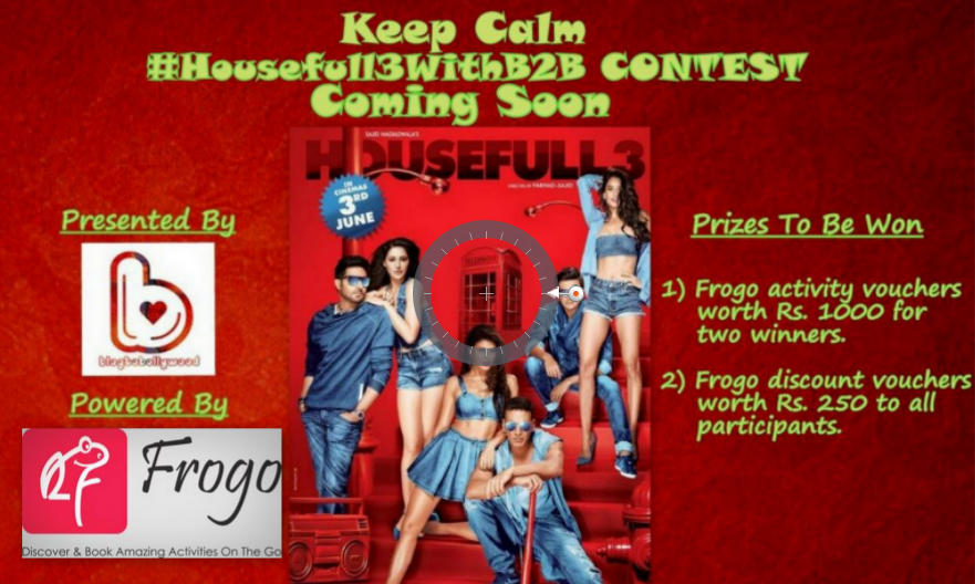 Frogo shoutout final - Predict the first day collection of Housefull 3