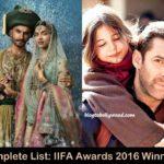 IIFA Awards 2016 Winners List: Bajirao Mastani Wins Big
