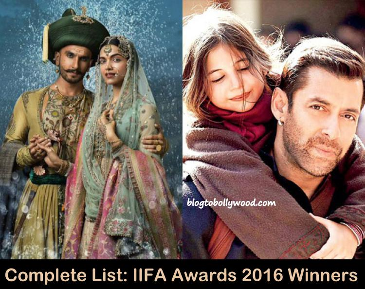 IIFA Awards 2016 Winners List: Bajirao Mastani Wins Big, Bajrangi Bhaijaan Best Film