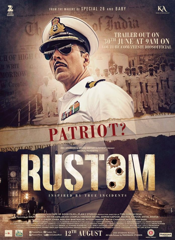 Akshay Kumar's Rustom New Poster Out, Trailer To Release On 30 June 2016