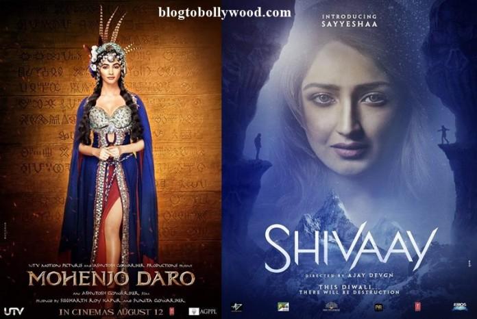 First Look: Pooja Hegde In Mohenjo Daro, Sayyeshaa In Shivaay