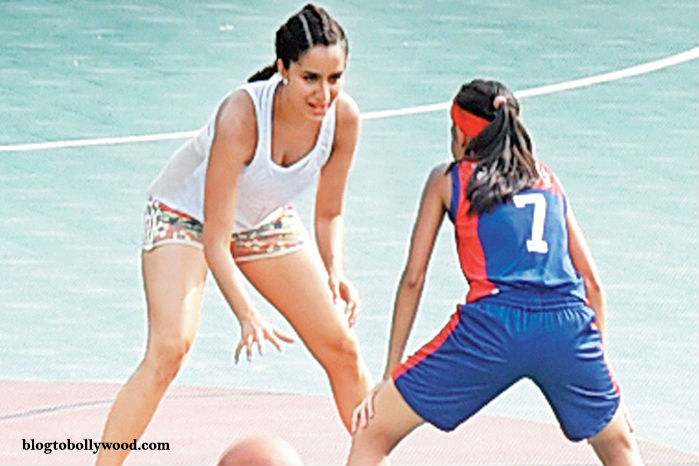 Shraddha Kapoor playing basketball
