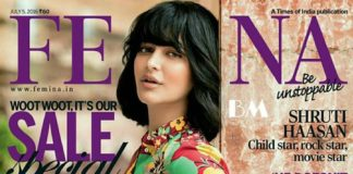 Funky Chunky Shruti Haasan looks chic on Femina India cover