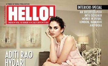 Royalty Aditi Rao Hydari graces the cover of Hello Magazine
