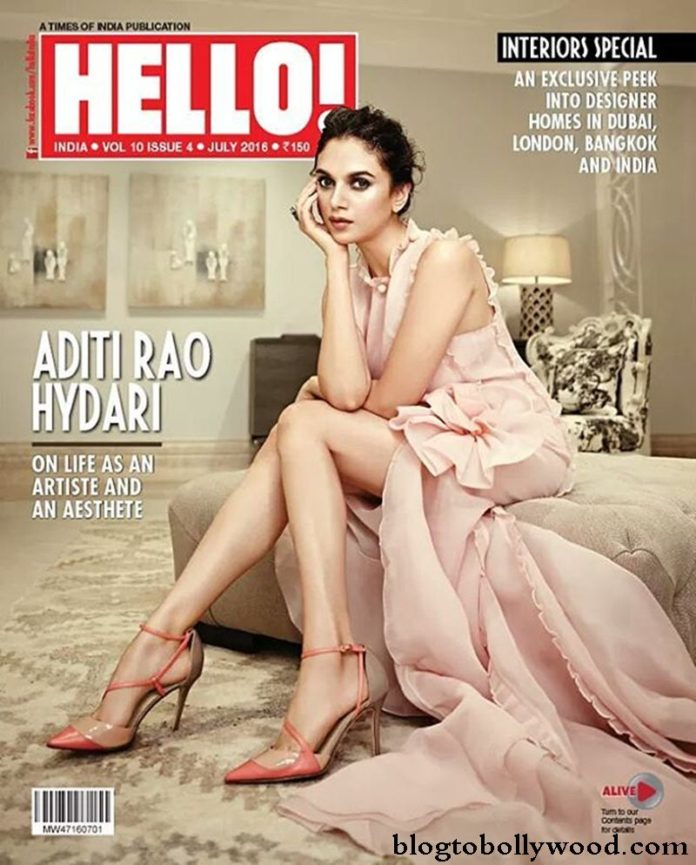Royalty Aditi Rao Hydari graces the cover of Hello Magazine