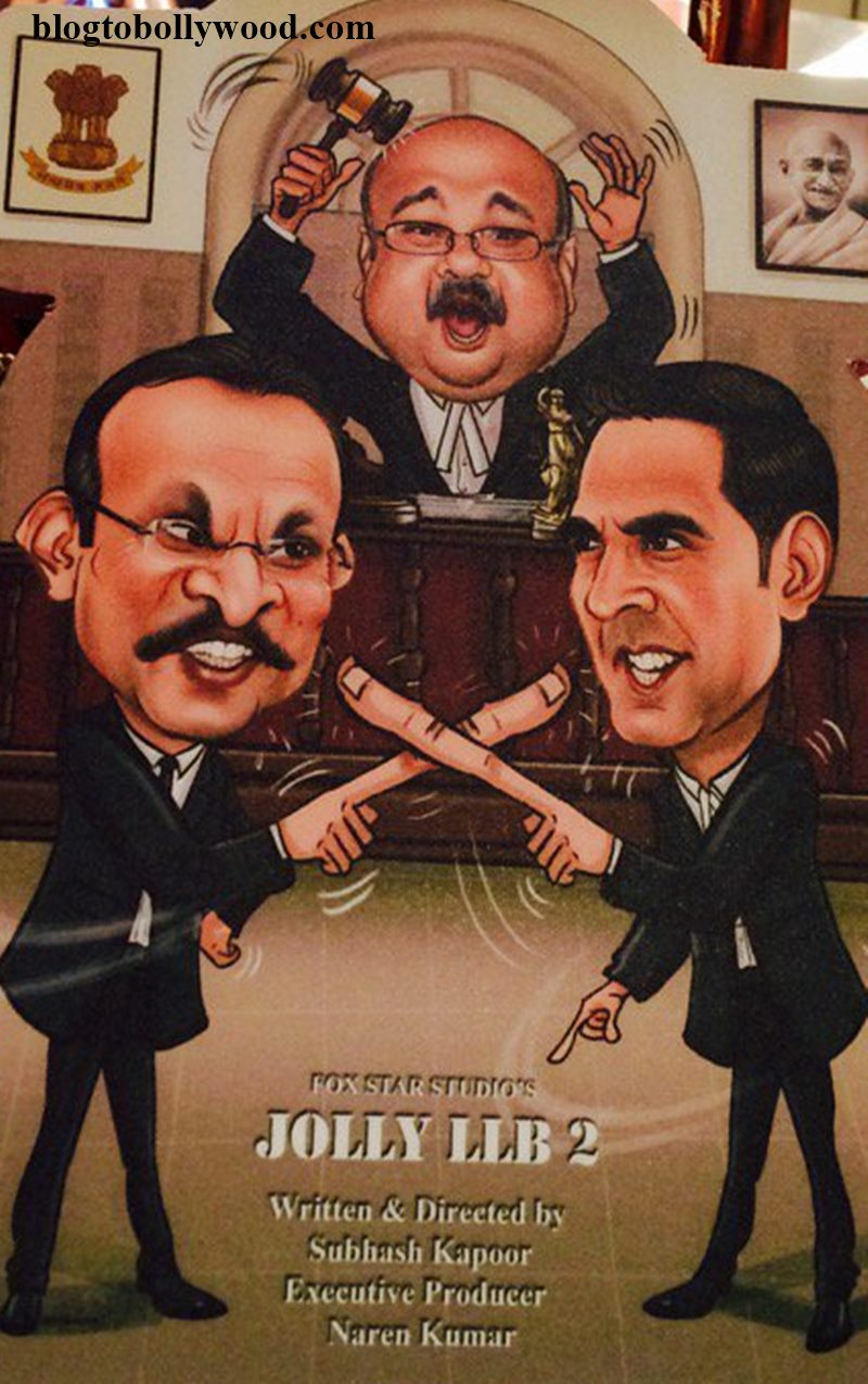 The first look of Jolly LLB 2 shows Akshay Kumar and Annu Kapoor arguing