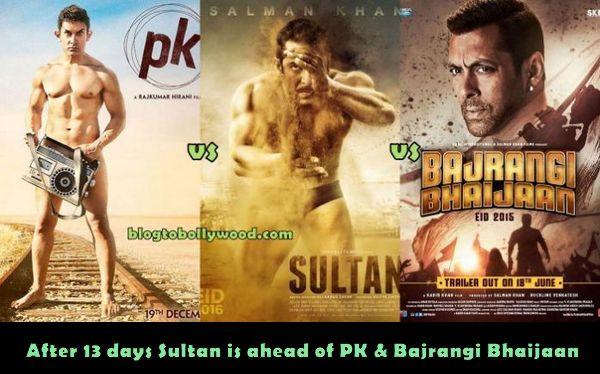 Sultan 13th day collection: Ahead Of PK, Bajrangi Bhaijaan And Dhoom 3