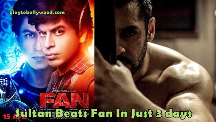 Sultan Become 3rd Highest Grosser Of 2016 In Just 3 Days, Beats SRK's Fan