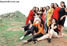 The Team of Begum Jaan including Vidya Balan, Ila Arun, Gauahar Khan pose together