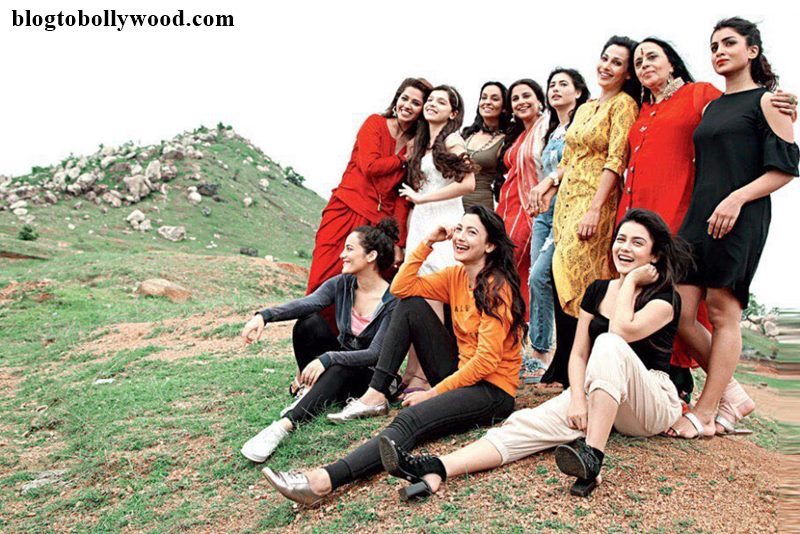 The Team of Begum Jaan including Vidya Balan, Ila Arun, Gauahar Khan pose together