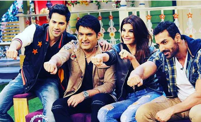 In Pics: Varun Dhawan, John and Jacqueline Had Gala Time On The Kapil Sharma Show