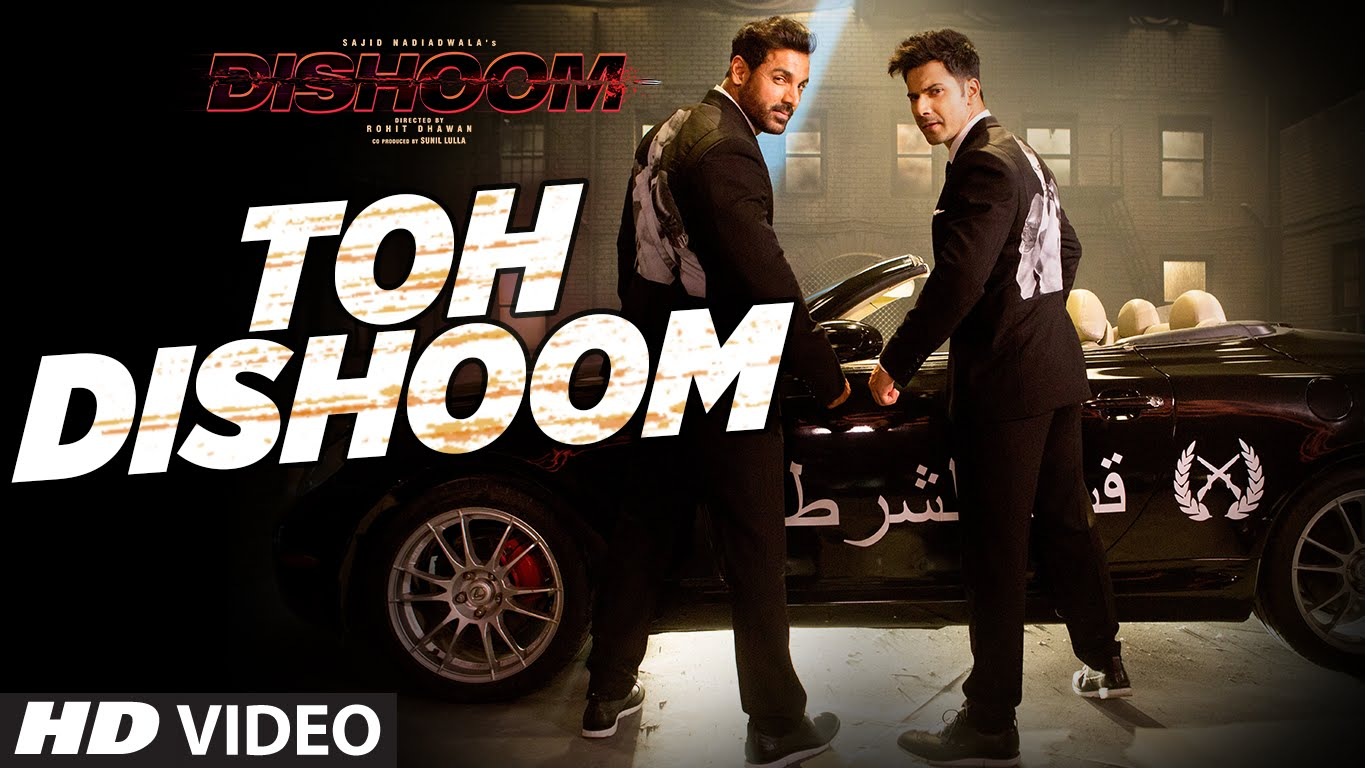 Check out the dhamakedaar track Toh Dishoom featuring Varun Dhawan and John Abraham