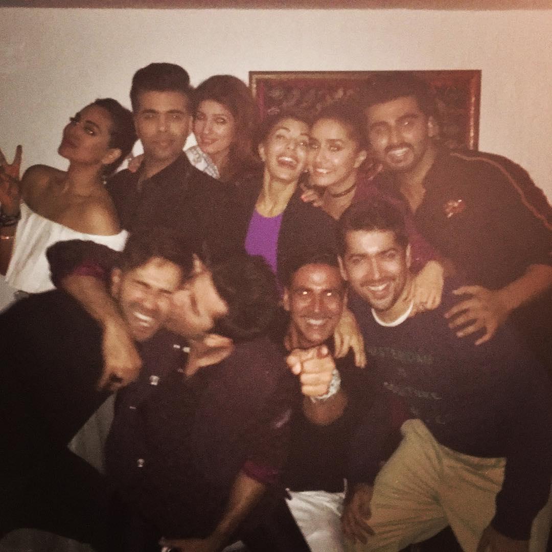 Bollywood stars at Akshay Kumar's Party