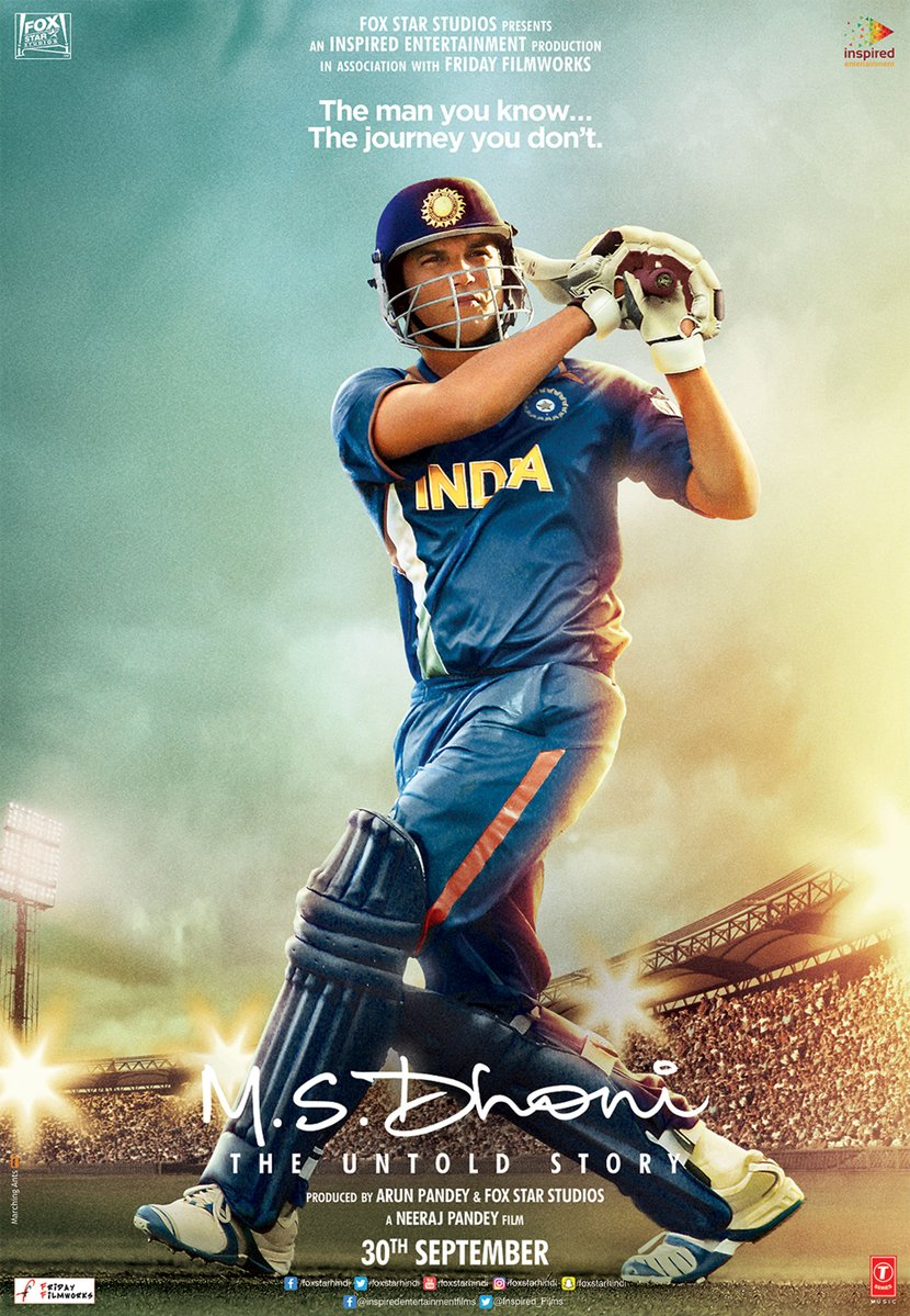 Poster Alert: Sushant Singh Rajput Is True Copy Of M.S. Dhoni In New Poster Of M.S. Dhoni Biopic
